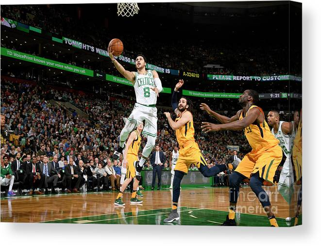 Nba Pro Basketball Canvas Print featuring the photograph Shane Larkin by Brian Babineau