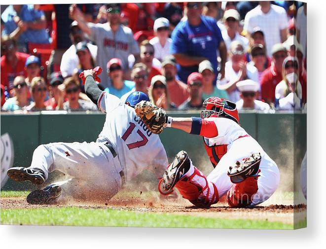 People Canvas Print featuring the photograph Shin-soo Choo by Maddie Meyer