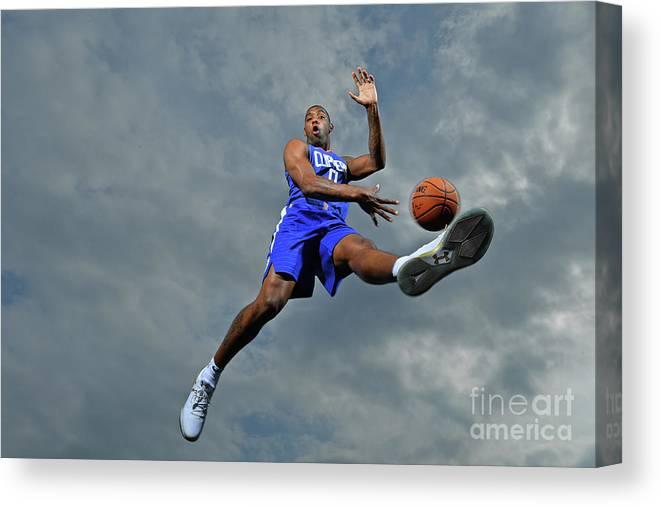 Nba Pro Basketball Canvas Print featuring the photograph Sindarius Thornwell by Jesse D. Garrabrant