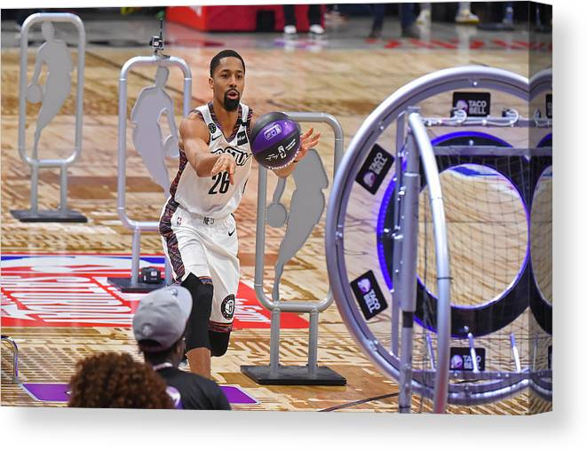 Nba Pro Basketball Canvas Print featuring the photograph Spencer Dinwiddie by Bill Baptist