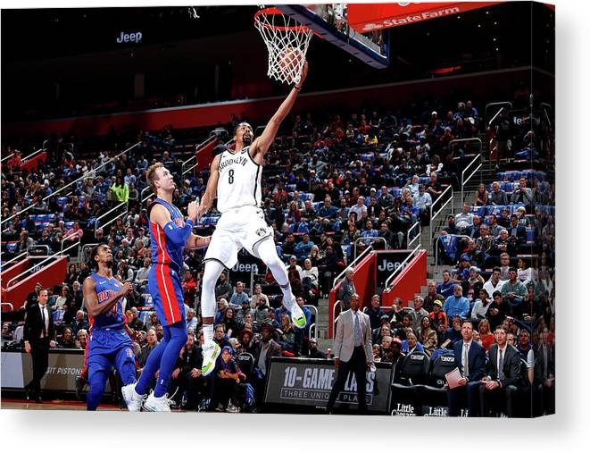 Nba Pro Basketball Canvas Print featuring the photograph Spencer Dinwiddie by Brian Sevald