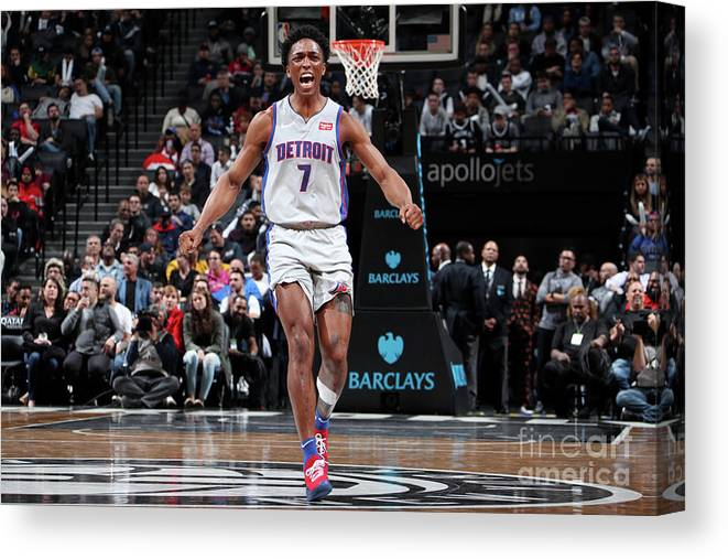 Nba Pro Basketball Canvas Print featuring the photograph Stanley Johnson by Nathaniel S. Butler