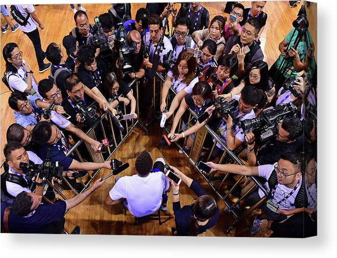 Event Canvas Print featuring the photograph Stephen Curry by David Dow