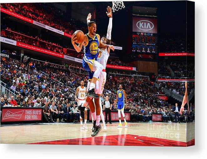 Atlanta Canvas Print featuring the photograph Stephen Curry by Scott Cunningham