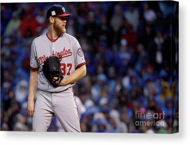 Three Quarter Length Canvas Print featuring the photograph Stephen Strasburg by Jonathan Daniel