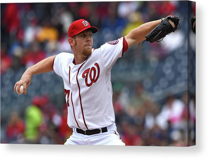 Working Canvas Print featuring the photograph Stephen Strasburg by Patrick Smith