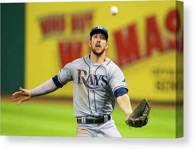 Three Quarter Length Canvas Print featuring the photograph Steven Souza and Francisco Lindor by Jason Miller
