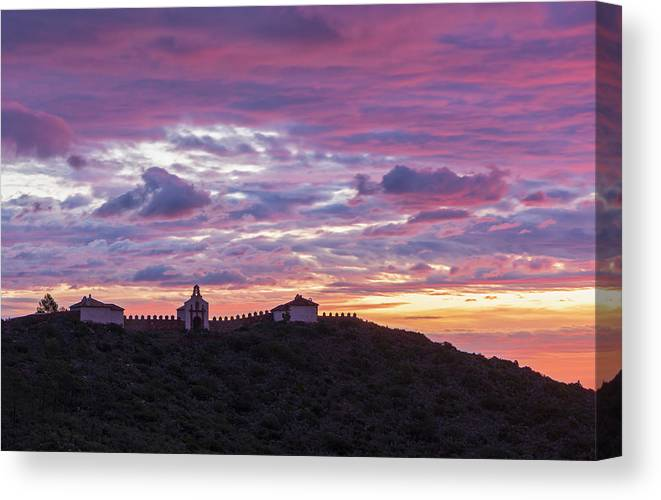 Convent Canvas Print featuring the photograph Sunrise In The Desert Of Las Palmas, Castellon by Vicen Photography