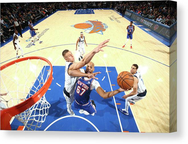 Nba Pro Basketball Canvas Print featuring the photograph Taj Gibson by Nathaniel S. Butler