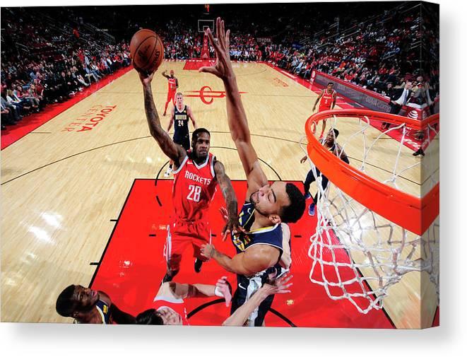 Nba Pro Basketball Canvas Print featuring the photograph Tarik Black by Bill Baptist
