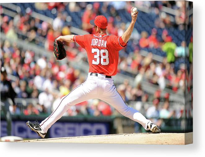 Baseball Pitcher Canvas Print featuring the photograph Taylor Jordan by Mitchell Layton