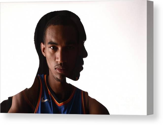 Nba Pro Basketball Canvas Print featuring the photograph Terrance Ferguson by Brian Babineau