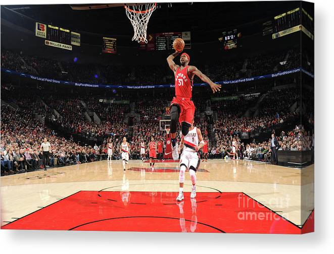 Nba Pro Basketball Canvas Print featuring the photograph Terrence Ross by Cameron Browne
