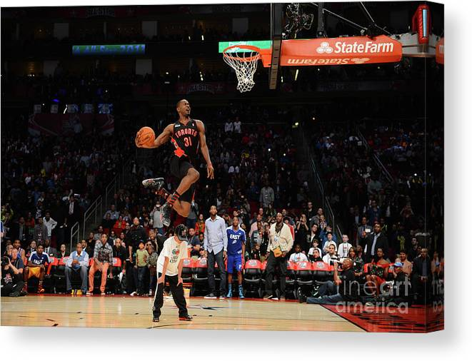 Nba Pro Basketball Canvas Print featuring the photograph Terrence Ross by Garrett Ellwood