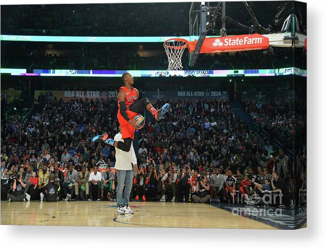 Smoothie King Center Canvas Print featuring the photograph Terrence Ross by Jesse D. Garrabrant