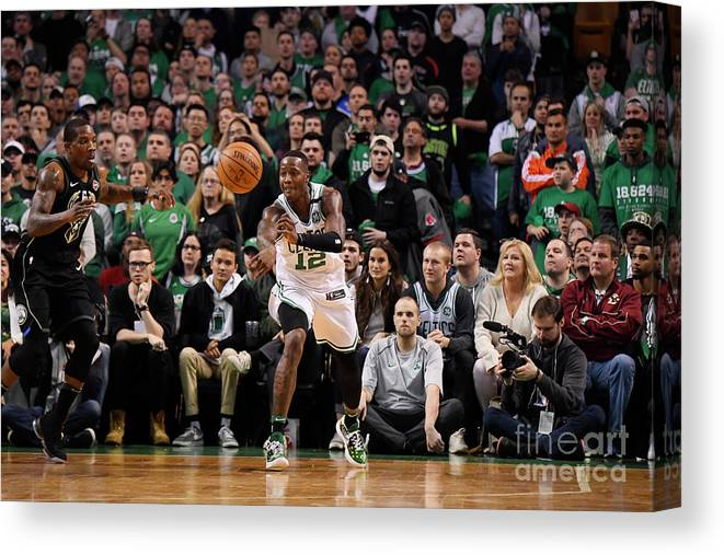 Playoffs Canvas Print featuring the photograph Terry Rozier by Brian Babineau