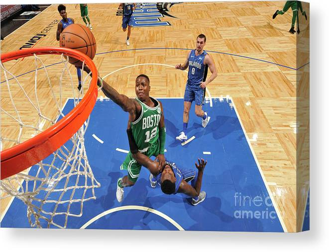 Nba Pro Basketball Canvas Print featuring the photograph Terry Rozier by Fernando Medina