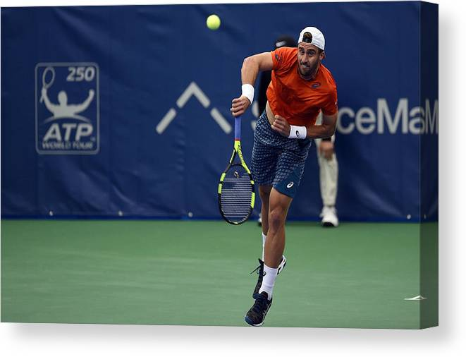 Tennis Canvas Print featuring the photograph The Memphis Open - Day 4 by Stacy Revere