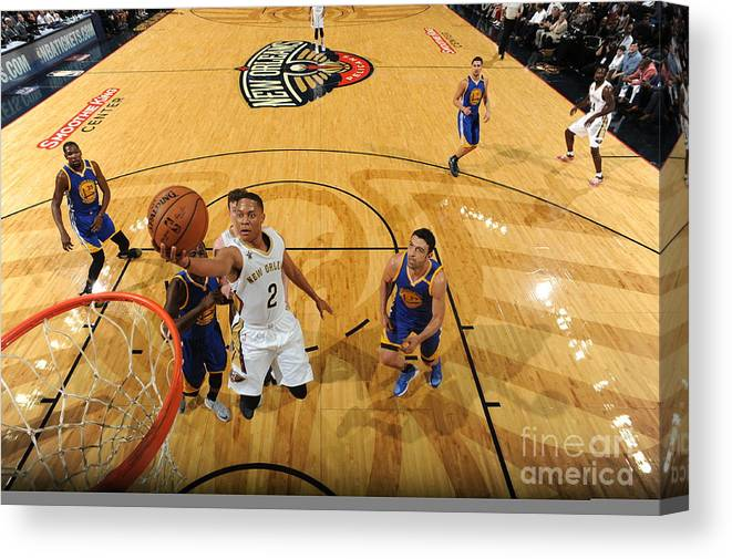 Smoothie King Center Canvas Print featuring the photograph Tim Frazier by Andrew D. Bernstein
