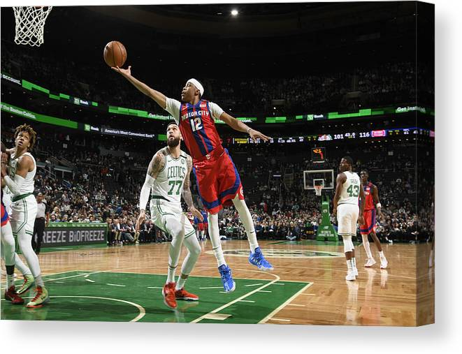 Nba Pro Basketball Canvas Print featuring the photograph Tim Frazier by Brian Babineau