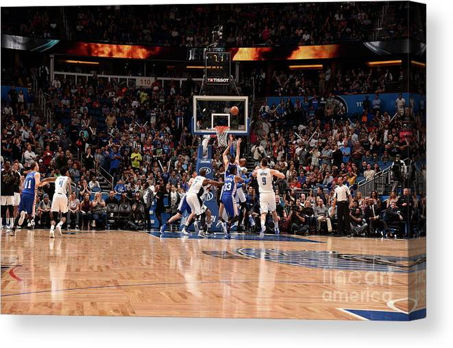 Nba Pro Basketball Canvas Print featuring the photograph T.j. Mcconnell by Gary Bassing
