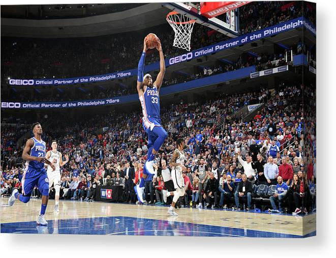 Playoffs Canvas Print featuring the photograph Tobias Harris by Jesse D. Garrabrant