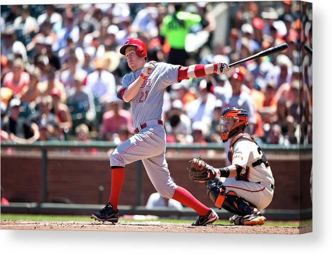 San Francisco Canvas Print featuring the photograph Todd Frazier by Jason O. Watson