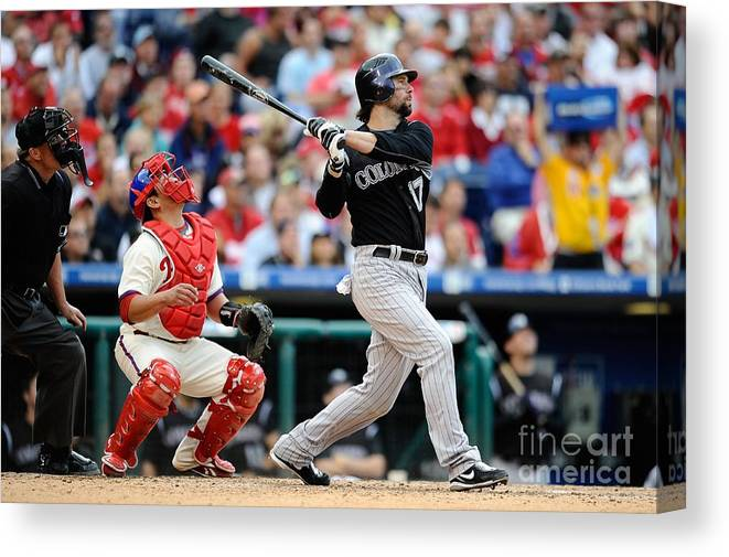 Playoffs Canvas Print featuring the photograph Todd Helton by Jeff Zelevansky