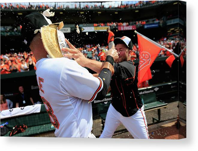 Following Canvas Print featuring the photograph Tommy Hunter and Steve Pearce by Rob Carr
