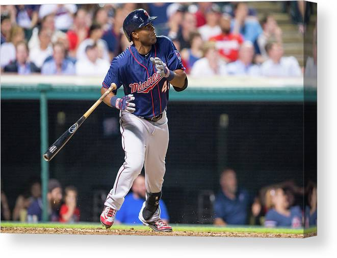 People Canvas Print featuring the photograph Torii Hunter by Jason Miller