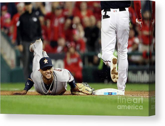 Yulieski Gourriel Canvas Print featuring the photograph Trea Turner by Patrick Smith