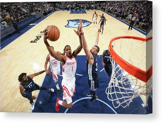 Nba Pro Basketball Canvas Print featuring the photograph Trevor Ariza by Joe Murphy