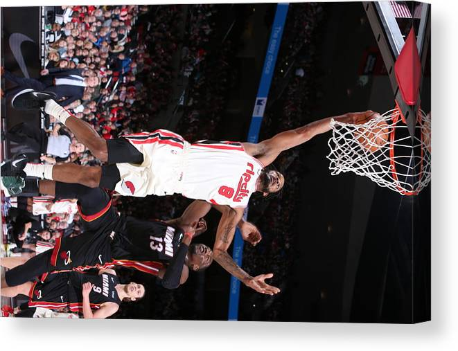 Nba Pro Basketball Canvas Print featuring the photograph Trevor Ariza by Sam Forencich