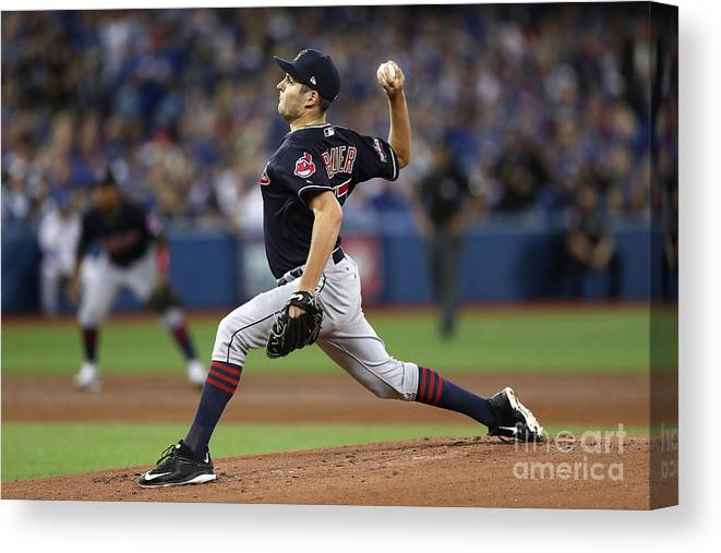 People Canvas Print featuring the photograph Trevor Bauer by Elsa