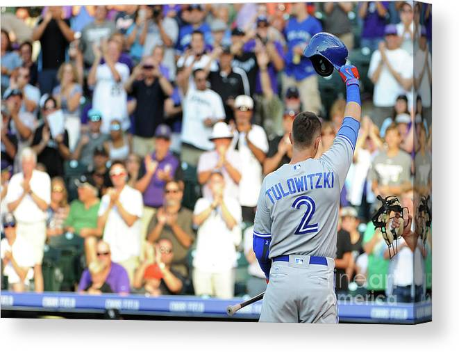 Crowd Canvas Print featuring the photograph Troy Tulowitzki by Bart Young