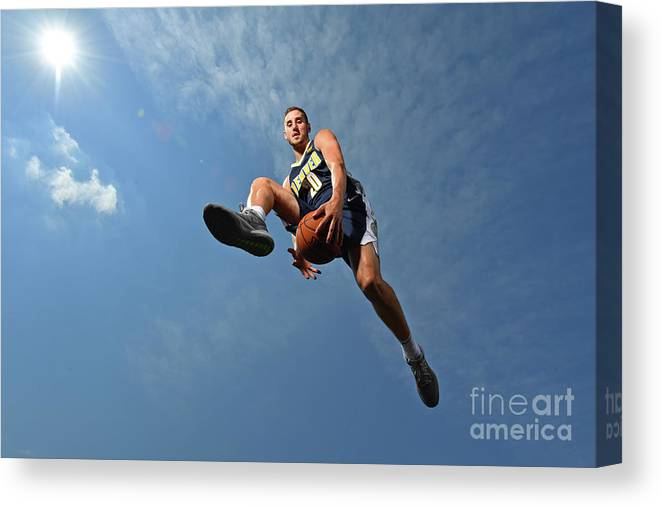 Nba Pro Basketball Canvas Print featuring the photograph Tyler Lydon by Jesse D. Garrabrant
