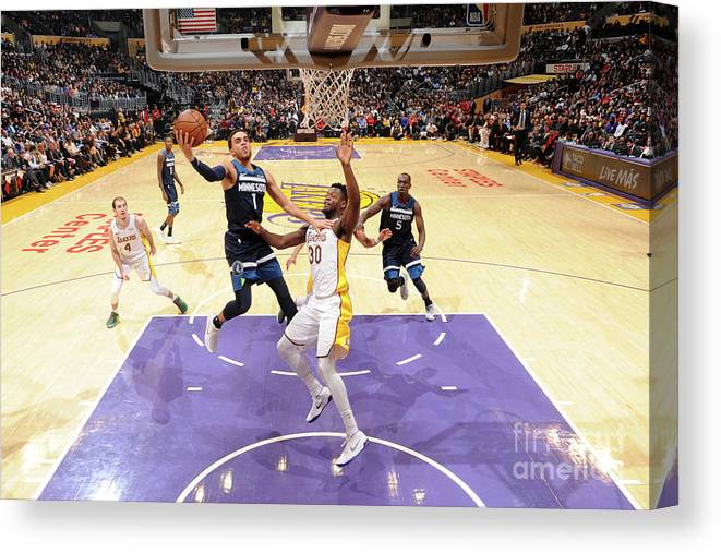 Nba Pro Basketball Canvas Print featuring the photograph Tyus Jones by Andrew D. Bernstein