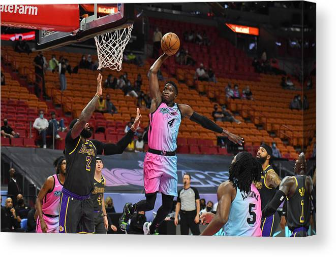 Nba Pro Basketball Canvas Print featuring the photograph Victor Oladipo by Carlos Goldman