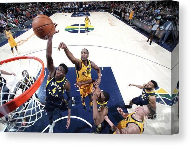 Nba Pro Basketball Canvas Print featuring the photograph Victor Oladipo by Melissa Majchrzak