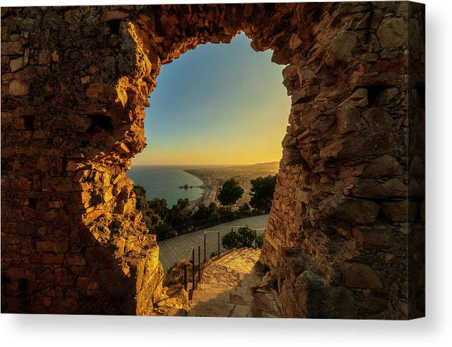 Blanes Canvas Print featuring the photograph Views To Blanes From The Castle by Vicen Photography