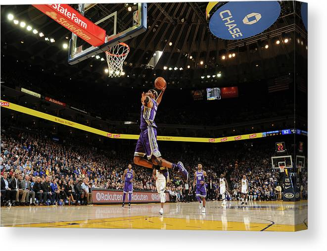 Nba Pro Basketball Canvas Print featuring the photograph Vince Carter by Noah Graham