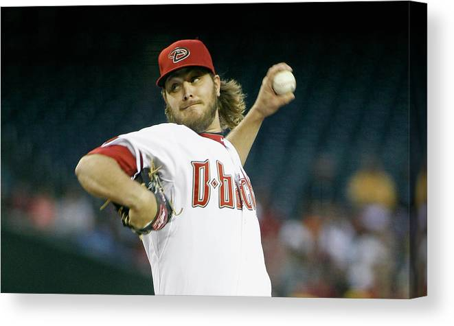 American League Baseball Canvas Print featuring the photograph Wade Miley by Ralph Freso