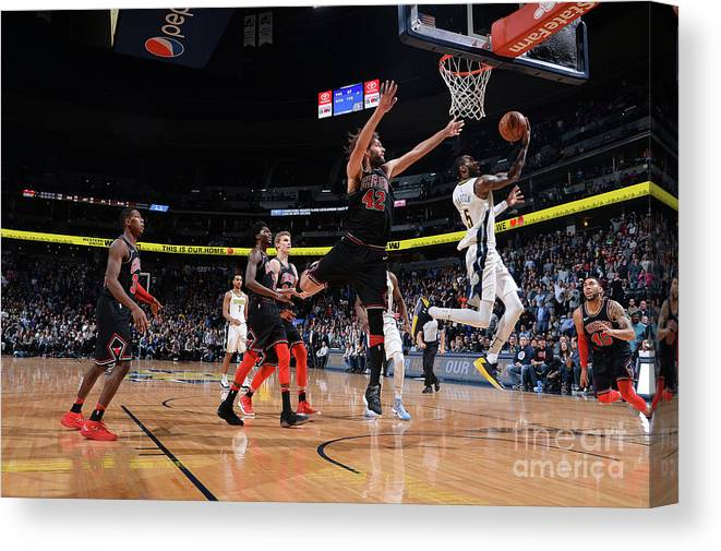 Nba Pro Basketball Canvas Print featuring the photograph Will Barton by Bart Young