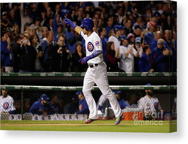 Second Inning Canvas Print featuring the photograph Willson Contreras by Jamie Squire