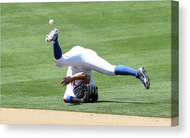 People Canvas Print featuring the photograph Wilmer Flores by Stephen Dunn