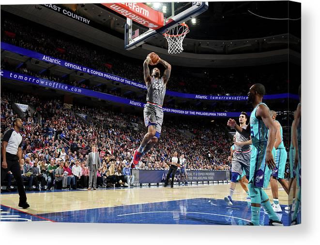 Nba Pro Basketball Canvas Print featuring the photograph Wilson Chandler by Jesse D. Garrabrant