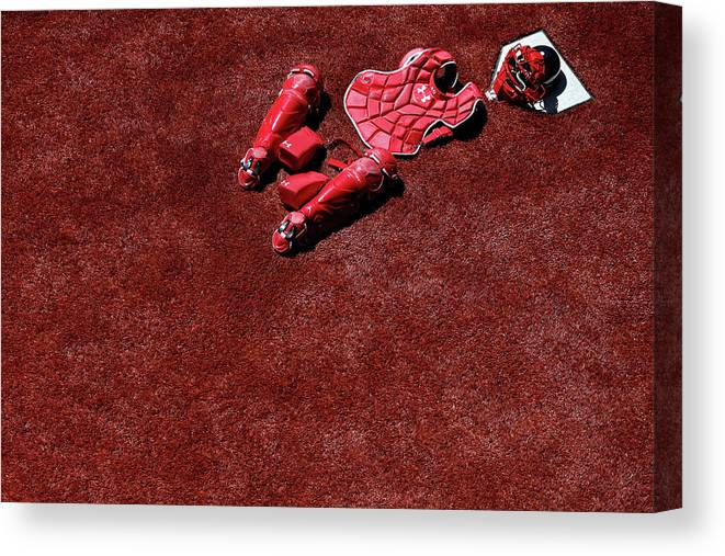 Catching Canvas Print featuring the photograph Wilson Ramos by Patrick Smith