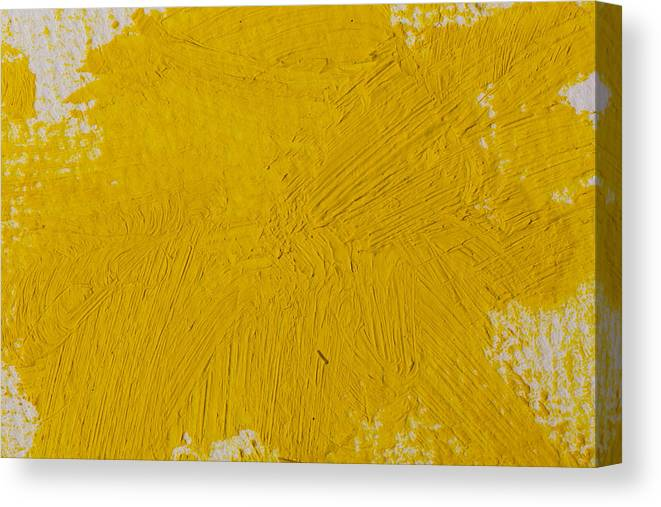 Art Canvas Print featuring the photograph Yellow Paint Strokes Texture by R.Tsubin