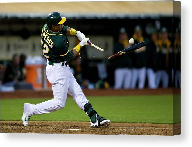 Yoenis Cespedes Canvas Print featuring the photograph Yoenis Cespedes by Jason O. Watson