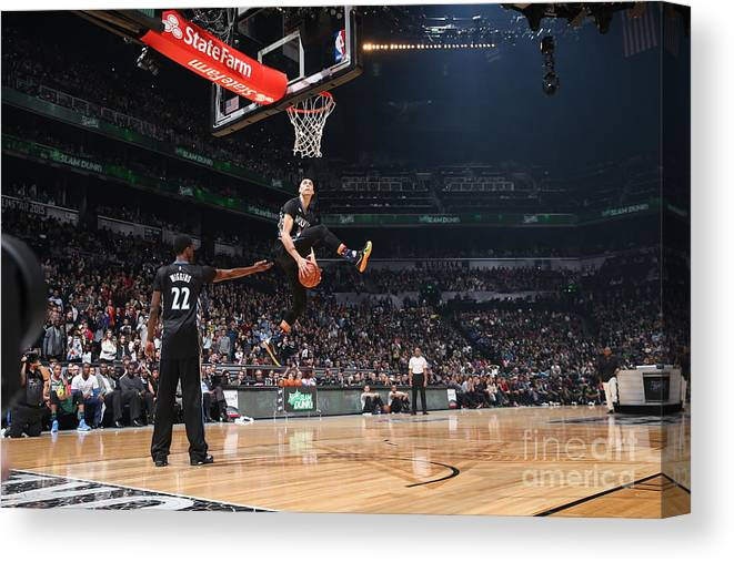 Event Canvas Print featuring the photograph Zach Lavine by Reid Kelley